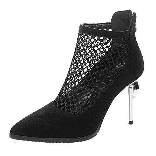 COOL CEPT Mujer Moda Puntiagudo Botines Pumps Zapatos de Fiesta Tacón Pequeno...