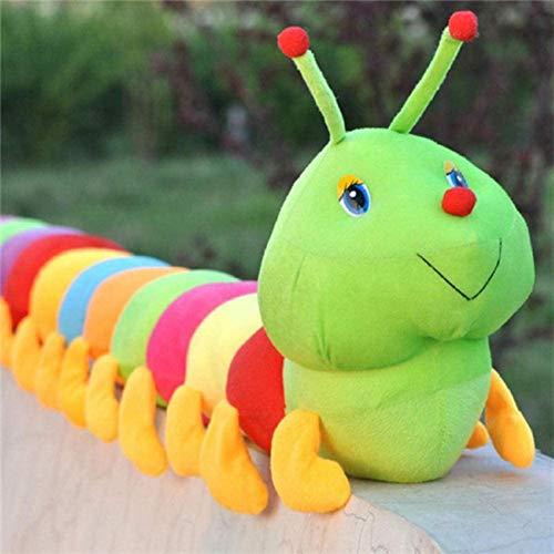 DINEGG Baby Weiche Plüsch Spielzeug Bunte Raupe Millennium Bug Gefüllte Puppe Kinder Halten große Raupe Kissen Puppe Spielzeug für Kinder YMMSTORY