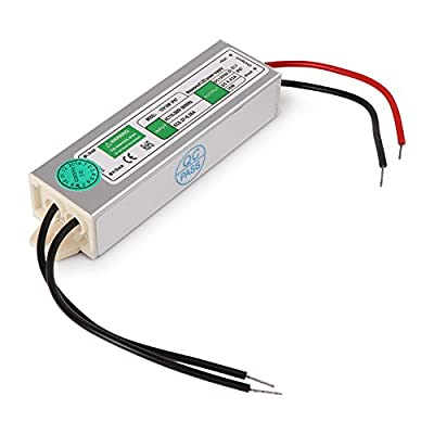LEMONBEST Waterproof LED Driver Transformer for Fountain Landscape Pond Pool Light, 10W Power Supply Switching AC 110V to DC 12V