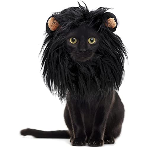 Kuashidai Peluca de melena de león para perro y gato, ajustable, lavable, cómoda, de fantasía para perro