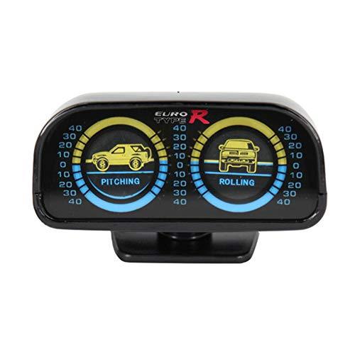Inclinómetro universal Centeraly para coche con dos indicadores retroiluminados