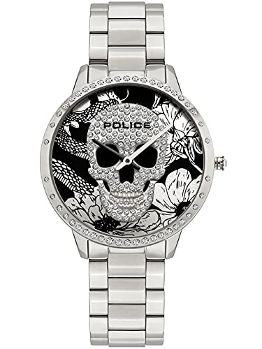 Police Damen Analog Quarz Uhr mit Edelstahl Armband PL16067MS.03M