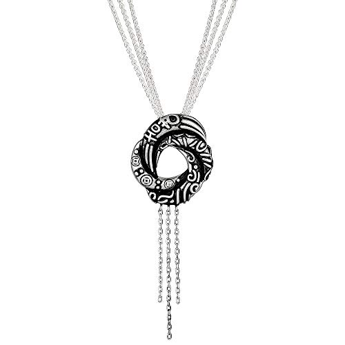 Little Treasures Damenhalskette, Anhänger mit algerischem Liebesknoten, 925er Sterlingsilber, inspiriert von James Bond