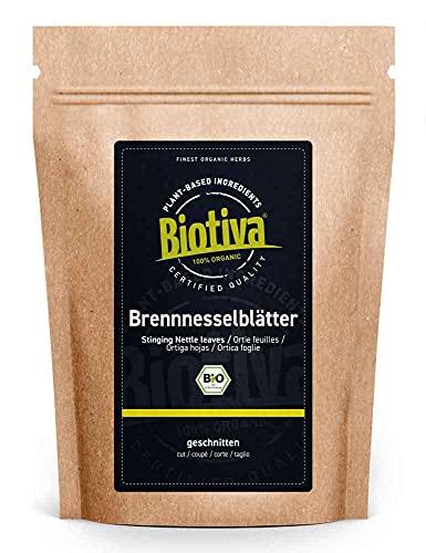 Brennnesselblätter-Tee Bio 100g - Brennesseltee - lose Blätter - 100% Bio Brennnessel-Kräuter - Abgefüllt und kontrolliert in Deutschland (DE-ÖKO-005)