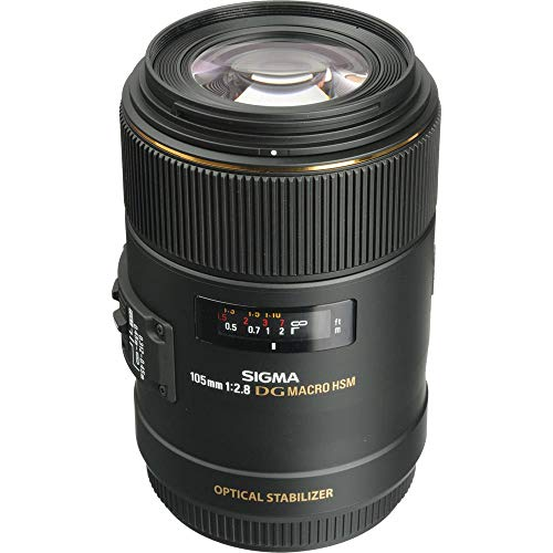 Sigma 105mm f/2.8 EX DG OS HSM Macro Lens for Canon EOS Cameras for Canon EF Mount + Accessories (International Model)