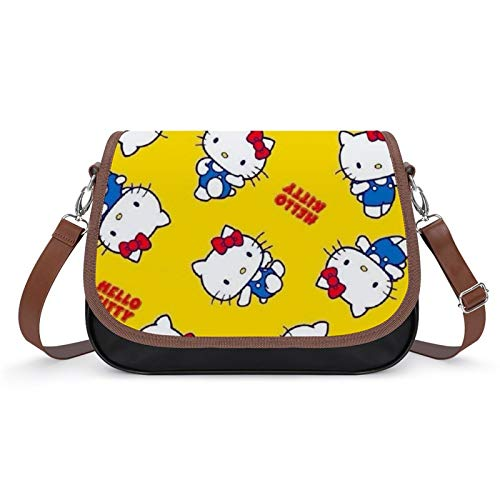 Bolso de piel sintética para mujer, diseño de Hello Kitty