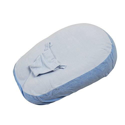 Housse pour coussin d'allaitement avec harnais - Bleu