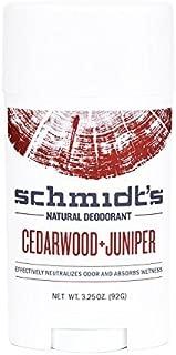 Schmidt's Deodorant Natural Deodorants Cedarwood + Juniper 3.25 oz. sticks (a) - 2PC