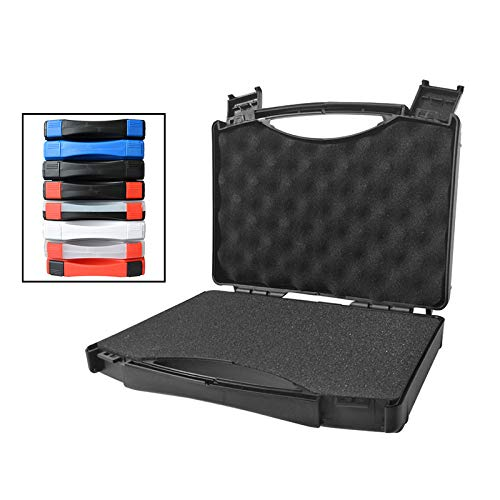 Gereedschapskist LKU Plastic opbergdoos draagbare onderdelen doos veiligheidsuitrusting instrument camera gereedschapskist schokbestendig, zwart met rood slot