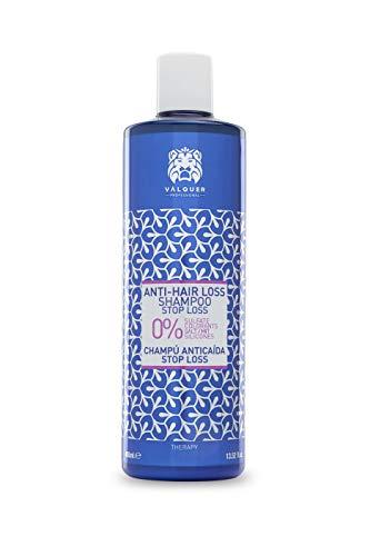 Válquer Profesional Champú Anticaída Formulación Zero % sin sal, sin sulfatos, sin parabenos y sin Siliconas. Reducir caída cabello. Stop Loss - 400 ml