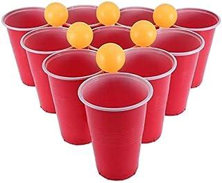 ビールポンセット、24のビールポンカップビールポン飲むゲームセットビールポンパーティーカップセット飲むゲームビールポンセット6ピンポンボールパーティーパブ 品質保証