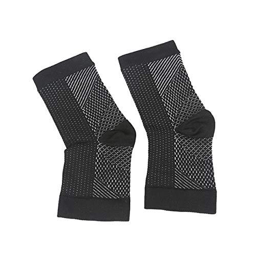 YUIO® Männer und Frauen, gefolgt von unsichtbaren druckreduzierenden Bewegungen Funktionelle Kompressionsstrümpfe Basketball-Sets Fersensocken (schwarz (S))