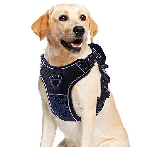 U//K a prueba de explosiones correa de pecho correa de perro chaleco estilo perro plomo azul L busto ajustable 60-80cm