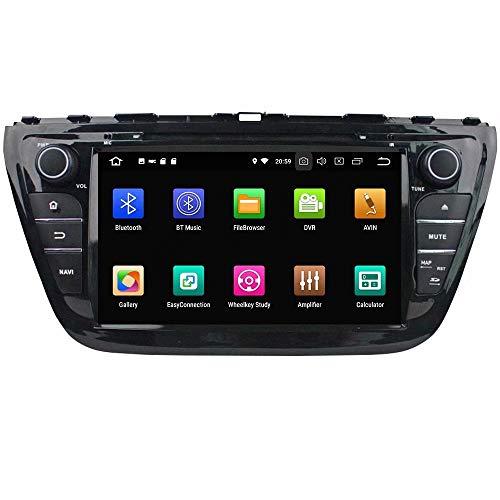 ROADYAKO 8 Pouces Android 8.0 Multimédia Auto pour Suzuki SX4 2013 2014 2015 / S-Cross 2013 2014 2015 2016 Autoradio Stéréo avec Navigation GPS 3G WiFi Lien Miroir RDS FM AM Bluetooth