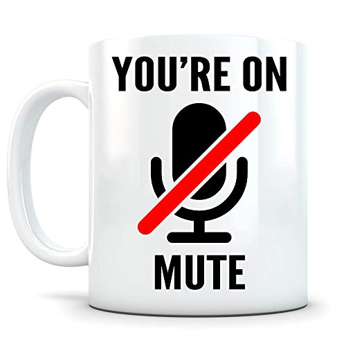 DKISEE Taza con texto en inglés «You're On Mute», «You Are On Mute», «Youre On Mute», « Taza con zoom »