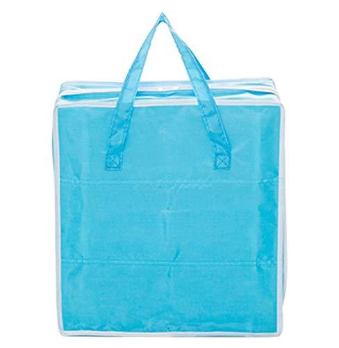 HJQL Zapato Impermeable,Bolsas De Maleta con Cubo Organizador,Caja De Almacenamiento De Zapatos Azul