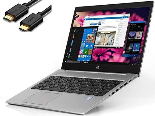 "2019 HP Probook 450 G6 15.6"" HD Business Laptop (Intel Quad-Core i5-8265U, 8GB DDR4 RAM, 256GB PCIe NVMe M.2 SSD, UHD 620) USB Type-C, RJ45, HDMI, Windows 10 Pro+ IST HDMI Cable"