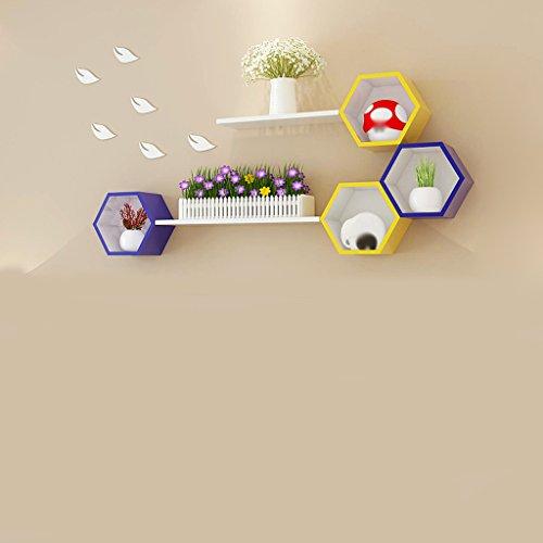 Juli Wandregale Shelf Wabe Gitter Gitter Wand Sofa Hintergrund Wand kreative Gitter einfache Wand