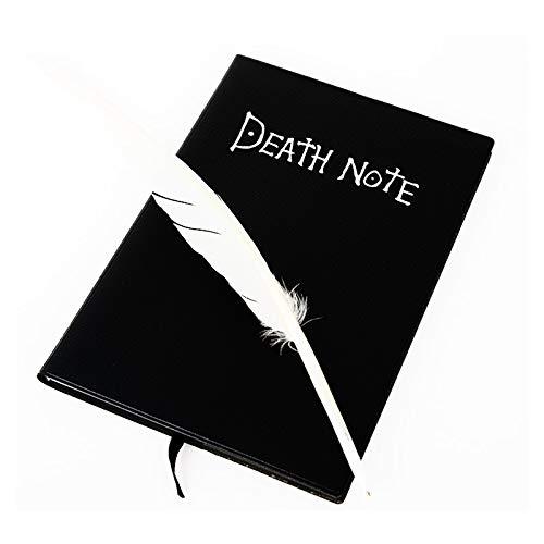 BEAUTYBIGBANG Nouveau Death Note Cosplay Carnet de notes avec plume et inscription «Death Note» Journal d'écriture d'art d'animation de Livre