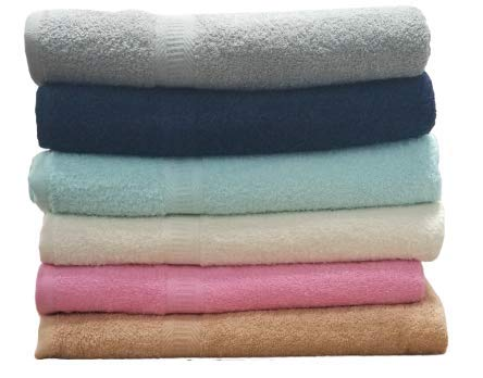 ArtMuseKitsMikash ecotowel ECO Towels 6-Pack Bath Towels - Extra-Absorbent - 100% Cotton - 27' x 54'