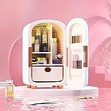 Vogvigo 12L Mini refrigerador de belleza, refrigerador portátil para el cuidado de la piel Lindo mini refrigerador para almacenar maquillaje, suministros de esteticista y otros productos de belleza
