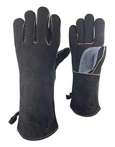 pomcat resistente al calor guantes de horno de fusión seguridad refinado fundición de oro plata cobre 13
