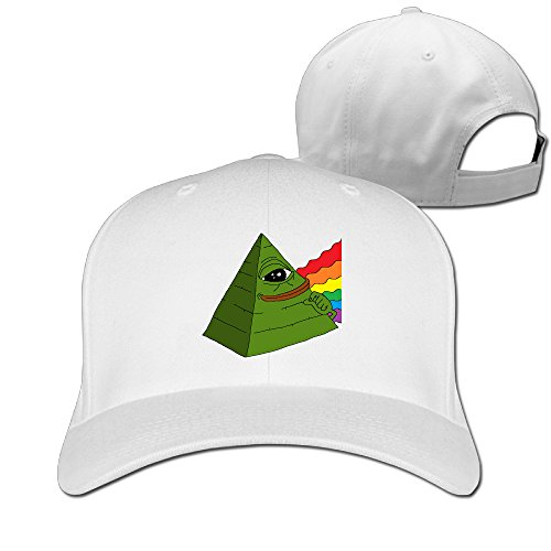 Gameser Cute Unisex Pepe The Frog Pyramid Internet Meme Sun Caps White