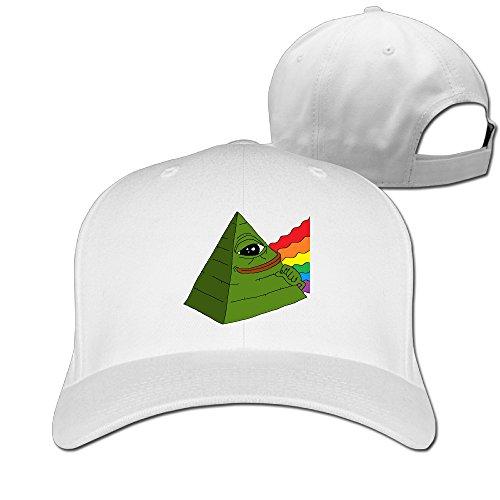 Gameser Cute Unisex Pepe The Frog Pyramid Internet Meme Sun Caps White