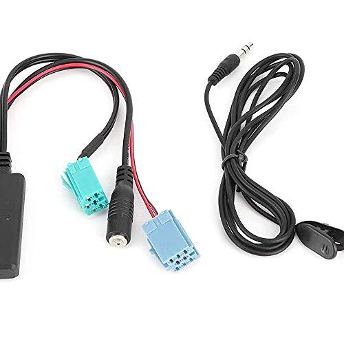 Yuyanshop Adaptador de audio, práctico de alto rendimiento para coche, adaptador AUX de 6 pines DC12V para Clio/Espace/Megane Phone MP3 Pad