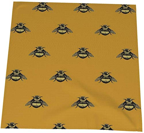 MODORSAN Paño Lavable de Las servilletas de Mesa de la Cena del Cuadro de la Abeja para la Boda