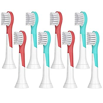 Kids Replacement Heads Compatible with Philips Sonicare Electric Toothbrush HX6340,HX6032/94,HX6034,HX6320,HX6321,HX6330,HX6331 Kids Toothbrush Replacement Heads for Kids 3-7 Years Old 8 Pack
