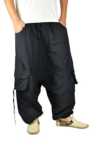 virblatt – GOA Hose und Haremshose Herren GOA Kleidung - Abgefahren schwarz