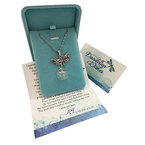 Smiling Wisdom - A Dandelion Wish for you Story Dragonfly Set - Dragonfly with Real Dandelion