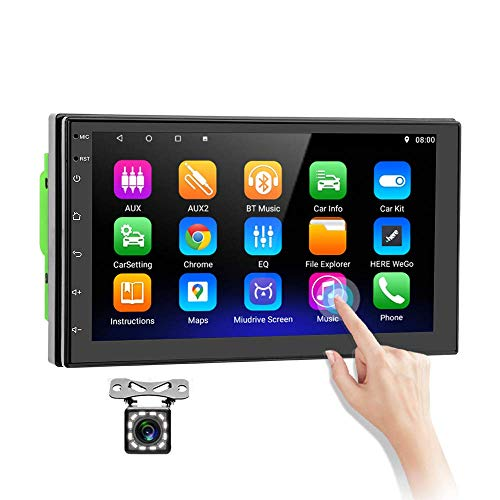 touchscreen with gps Double Din Android Car Stereo in-Dash GPS Navigation Head Unit 7 Inch Touchscreen Car Video Audio Player WiFi Bluetooth FM USB Mirror Link with Backup Camera