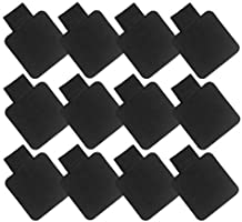 Heqishun Self-Adhesive Pen Holder with Elastic Band Loop 12 Pcs Black Leather Pencil Stylus Loop Holder for Journals,...