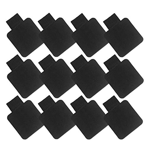 Self-Adhesive Pen Holder with Elastic Band Loop 12 Pcs Black Leather Pencil Stylus Loop Holder for Journals, Notebooks, Planner