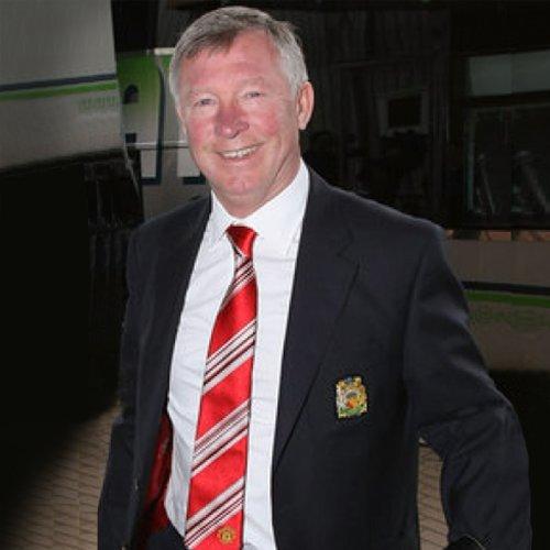 Manchester United FC officiel - Cravate du club - style Sir Alex Ferguson - soie