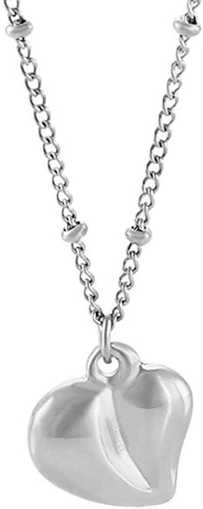 Stainless Steel Irregular Shape Heart Shaped Charm Fashion Dainty Collar Necklace