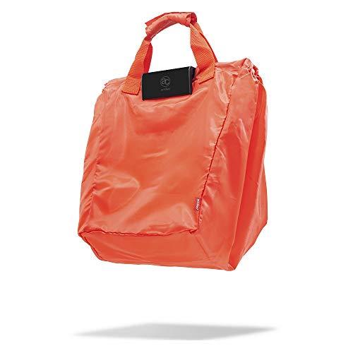 achilles Easy-Carrier, Faltbare Einkaufswagentasche mit Kühleinsatz und 3 Flaschenfächer, Einkaufstasche passend für alle gängigen Einkaufswagen, rot, 54x35x39 cm