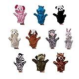 10pcs Animales Marionetas De Mano Animales De La Felpa Set Guantes Marioneta De Mano De La Historieta De La Felpa De Mano Interactivo De Títeres Para Niños Cuentos De Juguetes Educativos 20cm, Casa Y