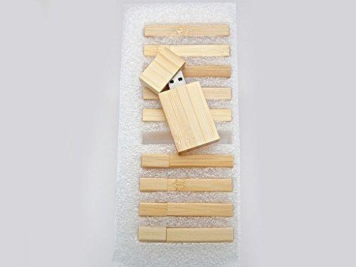 10 4GB Flash Drive - Bulk Pack - USB 2.0 Wooden Maple Stick Design - 4 GB Flash Drive