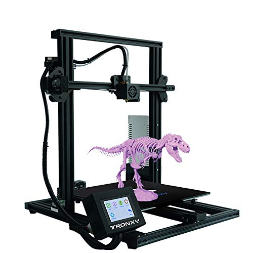 TRONXY XY-3 3D Printer 310x310x330mm Large Size Semi-Assembled with Filament Sensor and Power Resume, All Metal Frame with Flex Magnetic Sticker Touch Color Screen