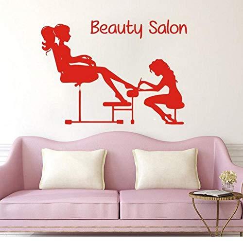 Adhesivo de pared de vinilo para uñas de pedicura, salón de belleza y manicura, para salón de spa, ventana, decoración de habitación, cartel de 42 x 60 cm