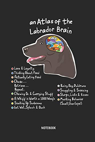 An Atlas Of The Labrador Brain | Notebook: Blank Lined Labrador Retriever Journal - Great Accessories & Gift Idea for Lab Owner & Lover.