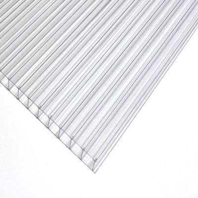 Polycarbonat Dachplatte Stegplatte Dick: 4mm Farbe: Klar. Größe: Breite: 750 mm x Hohe:350 mm = 1 Stuck! Terrase/Carport/Gartenhauser/Dachplatten