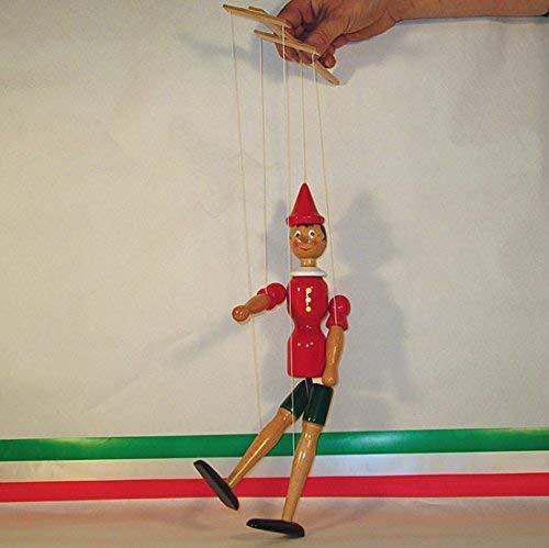 Pinocchio Marionette Handpuppe von Holz Handarbeit 38cm–Art.22