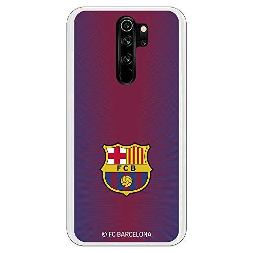 Funda para Xiaomi Redmi Note 8 Pro Oficial del FC Barcelona Barcelona Fondo Rojo Escudo Color para Proteger tu móvil. Carcasa para Xiaomi de Silicona Flexible con Licencia Oficial del FC Barcelona.