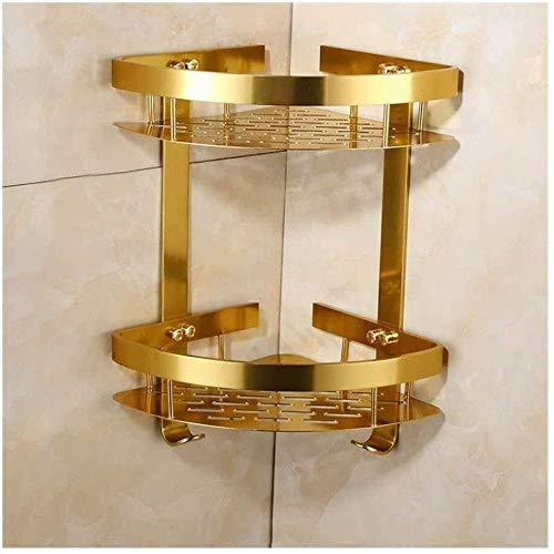 Badezimmer Regal Europäische Goldene Doppel Triangular Racks Badezimmer Rackswall montierten Badezimmer Handtuchhalter AQUILA1125