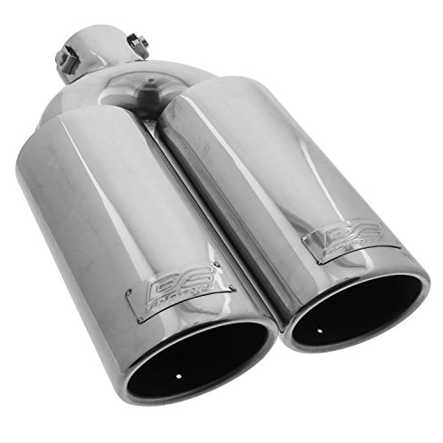 DC Sport EX-2012 Universal Stainless Steel Oval Slant Cut Bolt-on Exhaust Tip