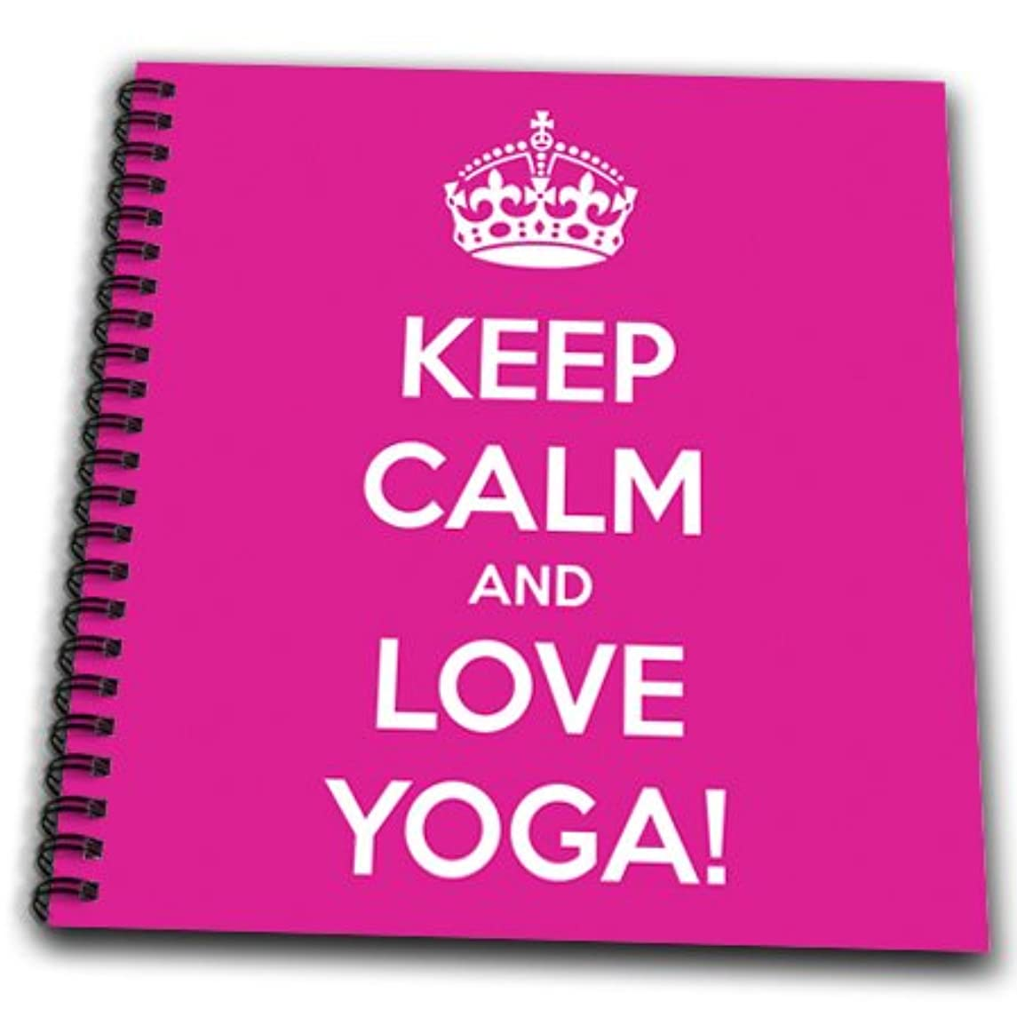 3dRose db_159562_1 Keep Calm and Love Yoga. Pilates-Drawing Book, 8 by 8-Inch
